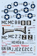 """P-51D-5 """"8th AF"""" - 1/48 - Matrica a képeken látható 5 géphez"""