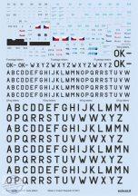 Z-37 stencils, code letters & labels - 1/72