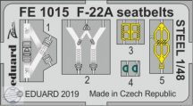 F-22A seatbelts STEEL - 1/48