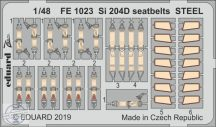 Si 204D seatbelts STEEL 1/48 - Secial Hobby