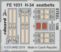H-34 seatbelts STEEL - 1/48