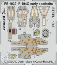 F-104G early seatbelts STEEL 1/48