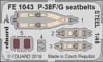 P-38F/ G seatbelts STEEL 1/48 - Tamiya