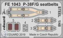 P-38F/ G seatbelts STEEL 1/48 - Tamiya