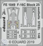 F-16C Block 25 seatbelts STEEL- 1/48