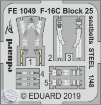 F-16C Block 25 seatbelts STEEL 1/48 - Tamiya