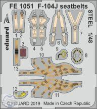 F-104J seatbelts STEEL 1/48 - Kinetic