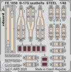 B-17G seatbelts STEEL - 1/48