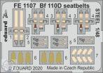 Bf 110D seatbelts STEEL - 1/48