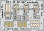 Bf 110D seatbelts STEEL - 1/48
