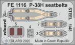 P-38H seatbelts STEEL - 1/48
