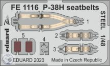 P-38H seatbelts STEEL - 1/48