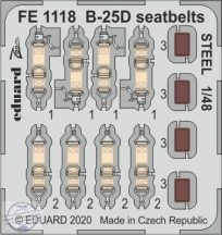 B-25D seatbelts STEEL - 1/48