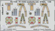 TF-104G seatbelts late STEEL - 1/48