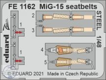 MiG-15 seatbelts STEEL - 1/48