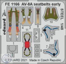 AV-8A seatbelts early STEEL - 1/48