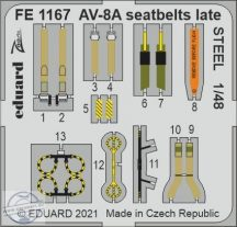 AV-8A seatbelts late STEEL -1/48
