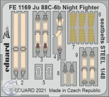 Ju 88C-6b Night Fighter seatbelts STEEL - 1/48