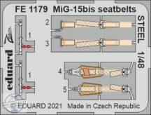 MiG-15bis seatbelts STEEL - 1/48