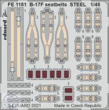 B-17F seatbelts STEEL - 1/48