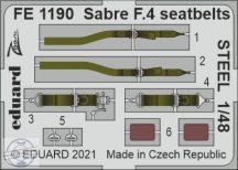 Sabre F.4 seatbelts STEEL - 1/48