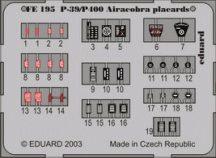 P-39/P-400 placards