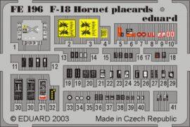 F-18 placards