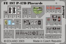 P-47D placards