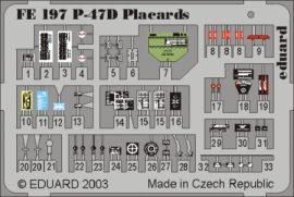 P-47D placards - 1/48