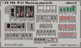 P-51 placards - 1/48