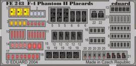 F-4 placards - 1/48