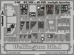 Wellington Mk.I cockpit interior- Trumpeter