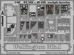 Wellington Mk.I cockpit interior - 1/48 - Trumpeter