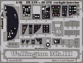Wellington Mk.III cockpit interior - 1/48 - Trumpeter