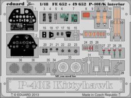 P-40E/K interior S.A.- Italeri