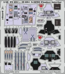 S-30M-2 Flanker interior S.A.-  1/48 - Academy