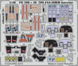 JAS-39B/D interior S.A.-  1/48 - Kitty Hawk