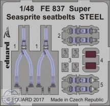 Super Seasprite seatbelts STEEL 1/48