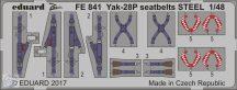 Yak-28P seatbelts STEEL  1/48