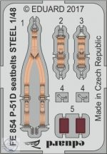 P-51D seatbelts STEEL  1/48