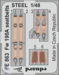 Fw 190A seatbelts STEEL - 1/48