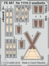 He 111H-3 seatbelts STEEL - ICM