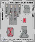 MiG-23MF/ ML seatbelts STEEL - 1/48 - Eduard, Trumpeter