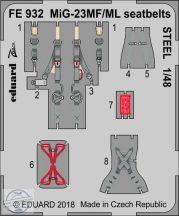 MiG-23MF/ ML seatbelts STEEL 1/48 - Eduard, Trumpeter