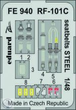 RF-101C seatbelts STEEL 1/48 - Kitty Hawk