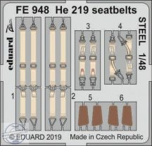 He 219 seatbelts STEEL - 1/48