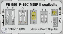 F-15C MSIP II seatbelts STEEL - 1/48
