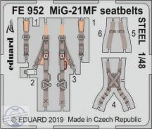 MiG-21MF seatbelts STEEL 1/48 - Eduard