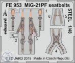 MiG-21PF seatbelts STEEL - 1/48 - Eduard