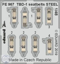 TBD-1 seatbelts STEEL 1/48  - Great Wall Hobby